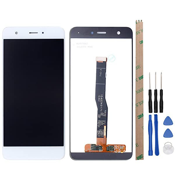 HYYT Replacement for Huawei Nova CAN-L01 L02 L03 L11 L12 L13 CAZ-AL10 5.0 LCD Display and Touch Screen Digitizer Glass Full Assembly(White)