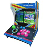 Tongmisi Pandora Box 6 Arcade Fighting Game Machine 1388 in 1 Mini Games Console with 10 Inch Screen for 1 Player (1388 Games) (Color: Blue)
