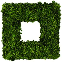 22 inch Preserved Boxwood Square Wreath