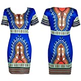 Doris-Apparel-Women-Traditional-African-Print-Dashiki-Bodycon-Short-Sleeve-Dress