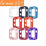 [8 Color Pack] V1take Compatible Apple Watch Case 38mm 42mm, Slim Lightweight Shock-Proof Iwatch Protector Case Compatible Apple Watch Series 3 Series 2 Series 1, Sport, Edition