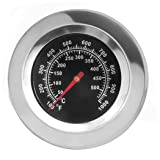 "DOZYANT 3"" Stainless Steel BBQ Charcoal Grill Pit Wood Smoker High Temperature Gauge Thermometer Replacement for Gas Grill Models by Cuisinart, Master Forge and Others -100F to 1000F (Color: For Cuisinart etc.)"