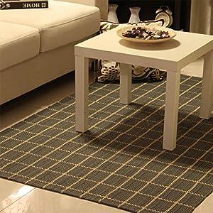 Ustide 100 cotton rag carpets for living room Machine washable rugs for living room