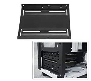 2.5 To 3.5 Bay SSD HDD Notebook Hard Disk Drive Metal Black Mounting Bracket Adapter Tray Kit