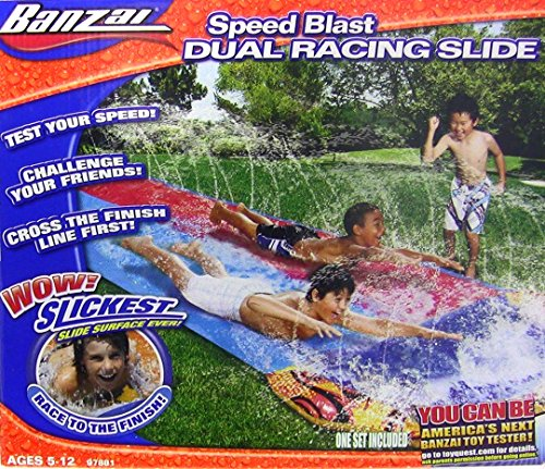Best Deals! Banzai Speed Blast Dual Racing Slide