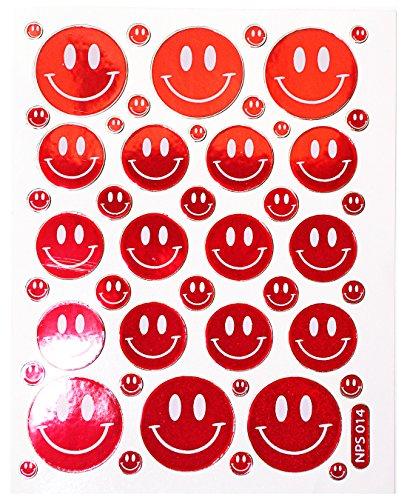 Jazzstick 170 Smiling Glitter Face Red Decorative Sticker 10 sheets