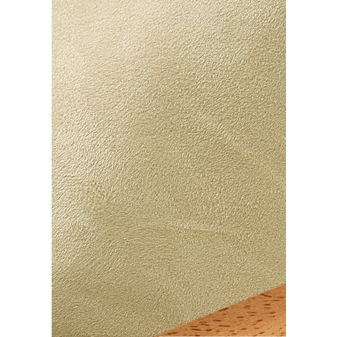Ultra Suede Cream Fitted Mattress Cover Full 639 front-878587