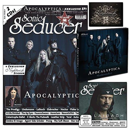 Sonic Seducer 04-2015 mit Apocalyptica-Titelstory + 2 CDs, darunter eine exkl. EP zum Album Shadowmaker von Apocalyptica + exkl. Sticker von Nightwish, Bands: The Prodigy, Eisbrecher u.v.m.