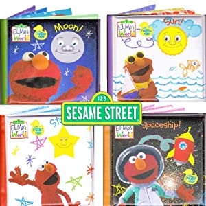 Amazon.com: Sesame Street® Bath Time Bubble Books Featuring Elmo