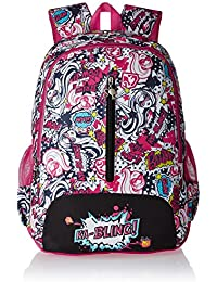 Barbie Nylon 48 Cms Pink And Black Children's Backpack (MBE - MAT103)