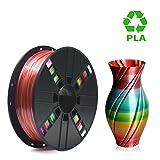 PLA Filament 1.75mm Rainbow Multicolor, ERYONE Multicolor Filament PLA 1.75mm, 3D Printing Filament PLA for 3D Printer and 3D Pen, 1kg 1 Spool (Color: A-Rainbow)