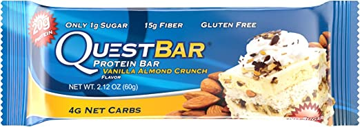 Quest Nutrition, Quest-Protein Bar, Vanilla Almond Crunch, 12 Bars, 2,12 oz (60 g) Jedes 1.6 x 5.3 x 9.1 inches