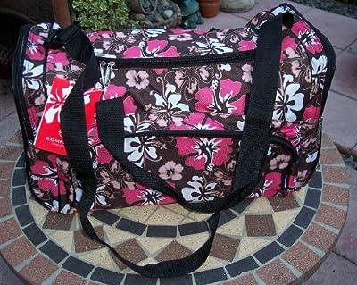 Ladies Pink Flower Holdall Weekend Bag, Maternity Bag, Hospital Bag, Baby Bag... from HOLDALLS