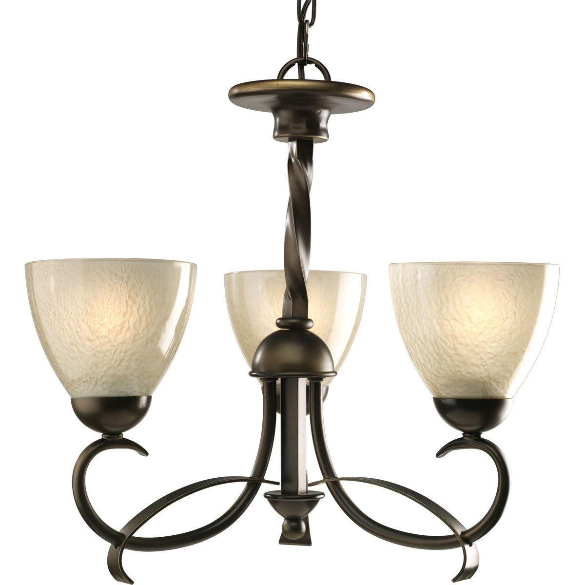Best Progress Lighting P Light Chandelier with Forged Metal Fluid Intersecting Arms and Unique Twisted