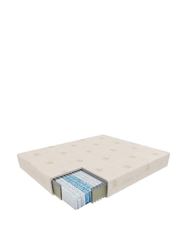 Sanidorm Vega Materasso a Molle con Rivestimento, Schiuma Memory, Bianco, 120x190x23 cm