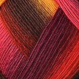 Lana Grossa Meilenweit Magico II 3501 Gelb/Rot/Pink/Braun/Lila