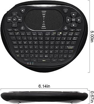 Anewkodi T8 2.4GHz Mini Wireless Keyboard w/ Touchpad Mouse