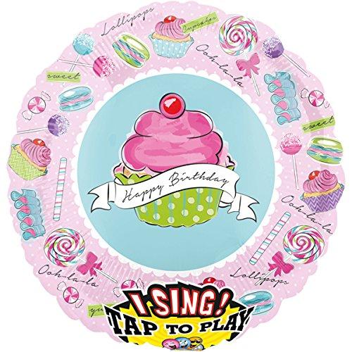 folienballon singend happy birthday t rtchen xxl 71cm luftballon zum geburtstag portofrei. Black Bedroom Furniture Sets. Home Design Ideas