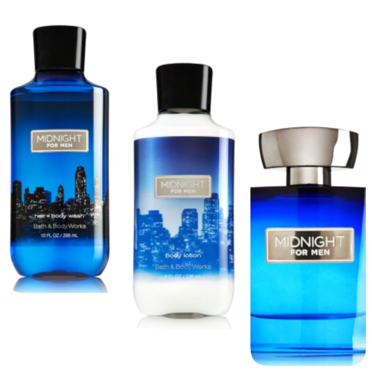 Galleon bath and body works midnight for men gift set for Bathroom sets for men