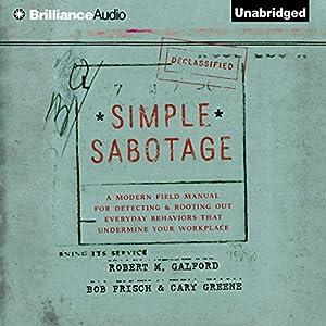 Simple Sabotage Audiobook