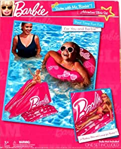 Swim With Me Barbie Inflatable Ring Floating Slide For Barbie Toys Games