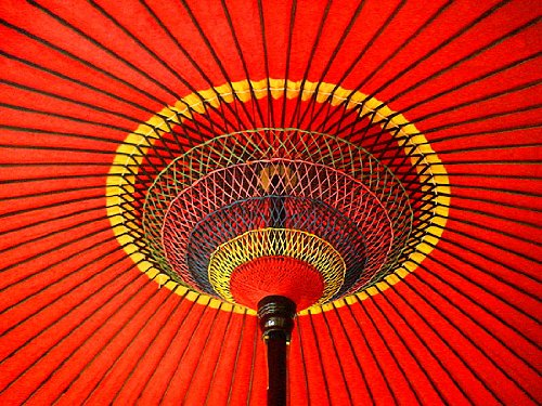 茶道具・野点傘/茶席用野点傘2.5尺+鉄製 野点傘立て台セット