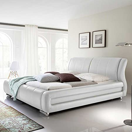Polsterbett in Weiß fur Wasserbett Breite 210 cm Liegefläche 180x200 Pharao24