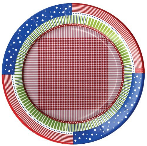 "4Th Of July Party Supplies Salad Plates Milton Glaser Design 16 Count 8"" Diameter"