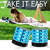 Foolly Portable Bluetooth Speakers Outdoor Sports Handsfree for Camping Hiking Cycling - Blue