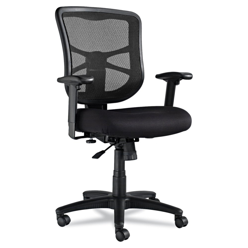 Alera ALEEL42BME10B Elusion Series Mesh Mid-Back Swivel/Tilt Chair