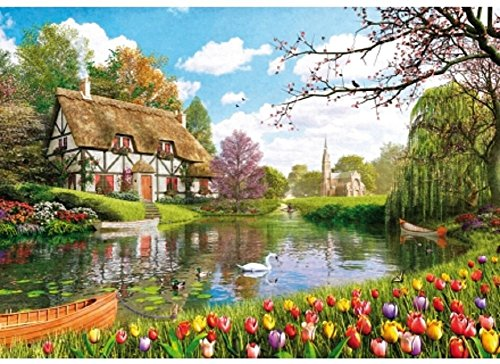 Wentworth Lakeside Cottage 250 Piece Dominic Davison Wooden Jigsaw Puzzle
