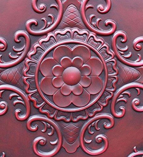 PL08imitation peinture rouge antique plafond Panneaux muraux décoration carrelage 3D pour estamper Café Pub Shop Art 10pieces/Lot