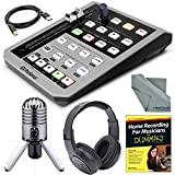 PreSonus FaderPort Single Motorized Fader USB DAW Controller and Samson Meteor Mic USB Studio Microphone + Accessory Bundle