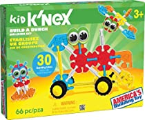 KID K'NEX - Build A Bunch Set - 66 Pieces - For Ages 3+ Construction  Educational Toy