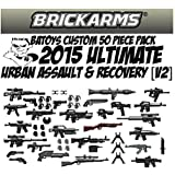 Brickarms B.A. Toys 50 Piece ULTIMATE Urban Assault & Recovery Pack [2015 V2 Update! 2.5 Inch Scale Weapons]