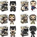 Pop! Heroes: Batman v Superman Batman, Superman, Wonder Woman, Aquaman, Knightmare Batman and Superman Soldier Vinyl Figures! Set of 6