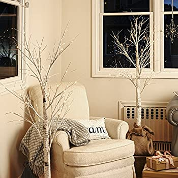 Pre-lit Birch Tree, White LEDs