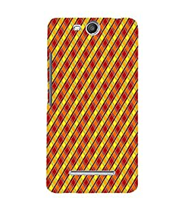 Cross Checks Pattern 3D Hard Polycarbonate Designer Back Case Cover for Micromax Canvas Juice 3 Q392