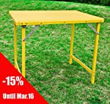 Aluminium Picnic Camping Camp Folding Table, Outdoor Party Banquet Table, 8829-T-Y (Yellow)