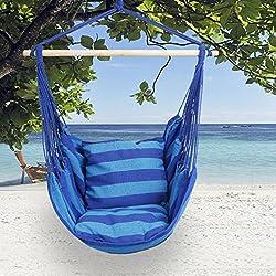 Kinlo Amaca a poltrona per giardino spiaggia - portata 100 kg, Blu