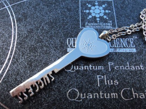 """Fusionexcel Qp8 Scalar Energy Quantum Premium Key Pendant - Cell Phone/Small Appliance Emf Protection. Fusion Excel Authenticity & Registration Card With """"Scratch"""" Id And Password For Registration On Website. Beware Of Fake Fusion Excel Scalar Energy Prod"""