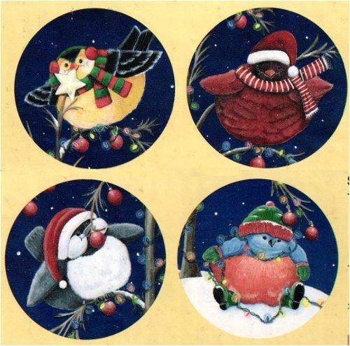 Set Of 4 Christmas Quot Snow Birds Quot 8 Quot Inch Dessert Salad