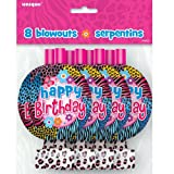 Wild Birthday Party Blowers, 8ct