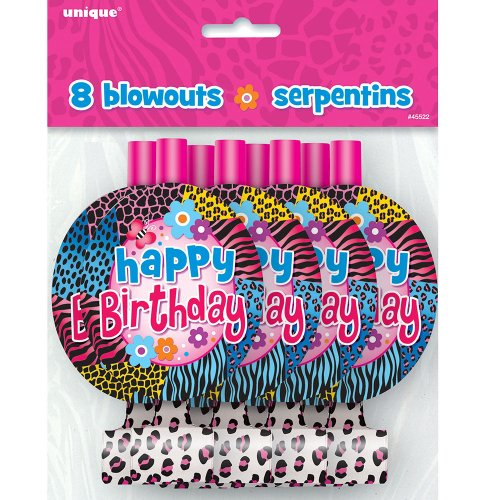 Wild Birthday Party Blowers, 8ct - 1