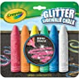Crayola 6 Count Glitter Sidewalk Chalk (51-1216-E-000)