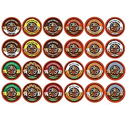 Crazy Cups Decaf Flavor Nation's Selection and Flavored Lovers Single Serve Cups for Keurig K Cups Brewer (48 Count)