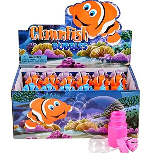 Clown Fish Bubbles (Pack of 24) bright colors - Fish party favors (Fish Bubbles compare prices)