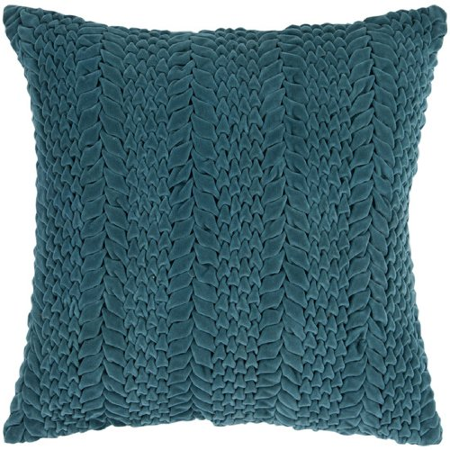 BestPrice Black Friday 18 Teal Blue-Green Scale Pattern Decorative Throw Pillow 016 Black ...