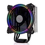 GOLDEN FIELD PBZ8 CPU Cooler CPU Air Cooler Heastink with 4 Heatpipes & 120mm LED Fan Computer CPU Cooling Cooler Radiator for Intel & AMD (Color: PBZ8, Tamaño: PBZ Series)