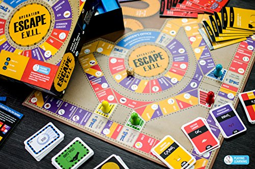 ESCAPE EVIL Fun Educational Board Games STEM Toys On CHEMISTRY For Kids 8-10 9-12 12-14. Geek Gifts Science Kits For Boys Girls Teens.